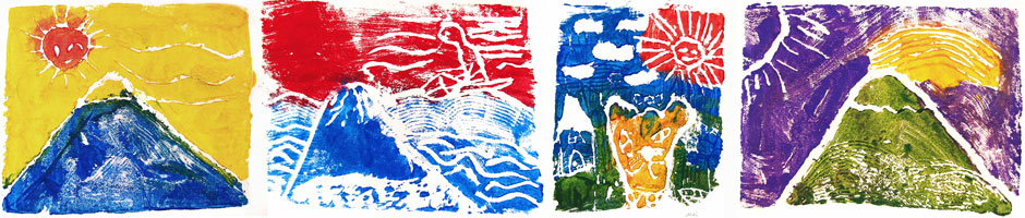 Check out these colorful Hokusai-style prints made by IPE students under Jennifer's guidance in the spring of 2014.