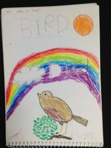 Bb is for Bird.